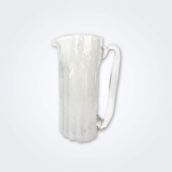 White glass pitcher product picture.