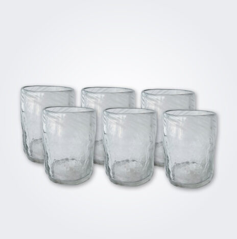 White Glass Tumbler Set