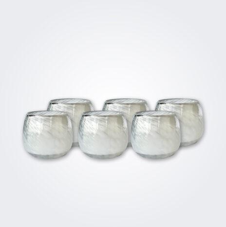 White Stemless Wine Glass Set