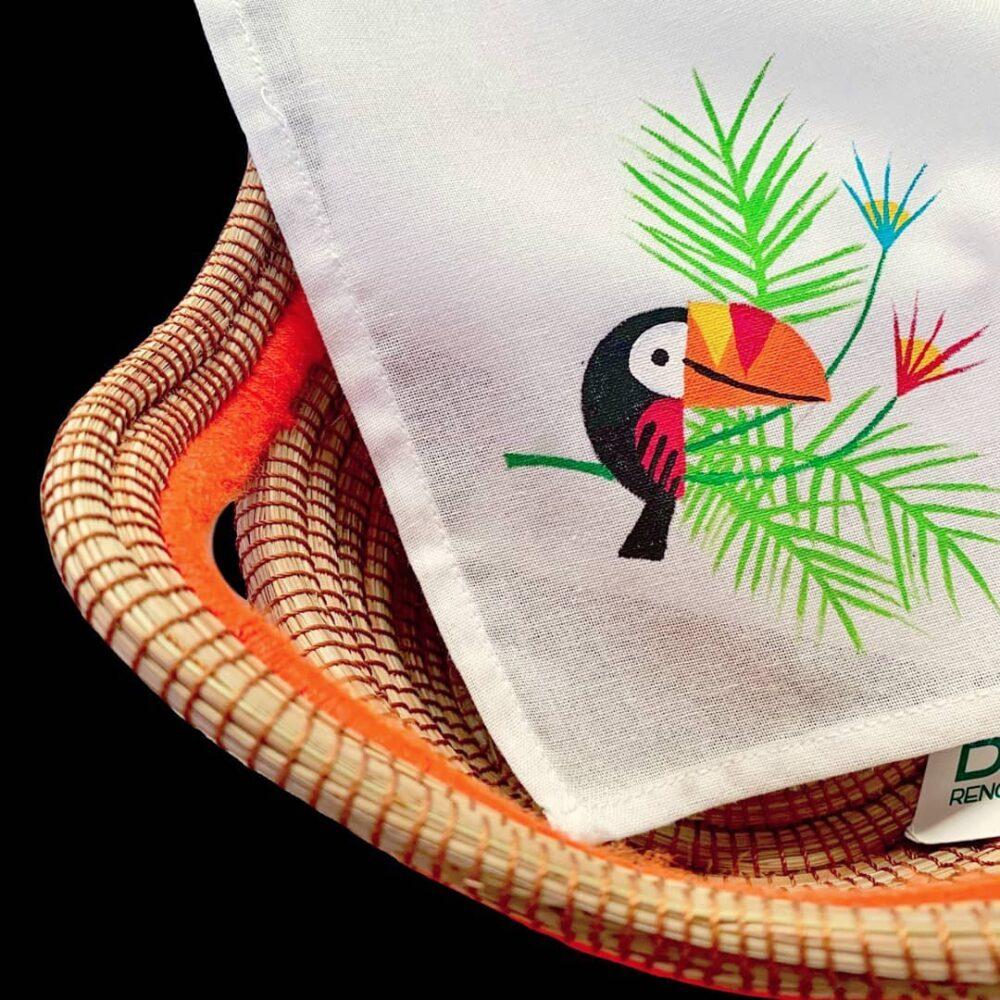 Toucan tea towel