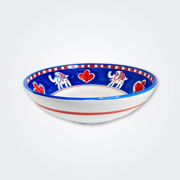 Elephant ceramic bowl product picture.