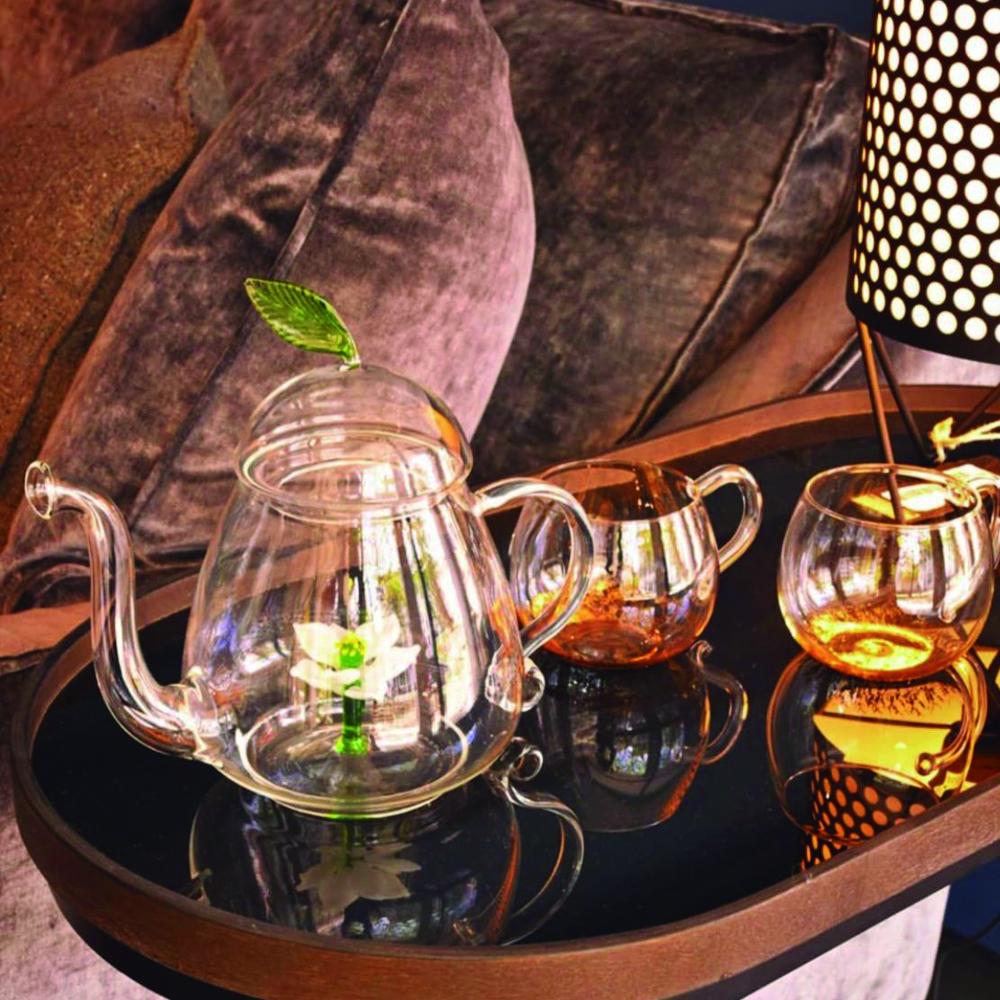 LOTUS GLASS TEAPOT 2