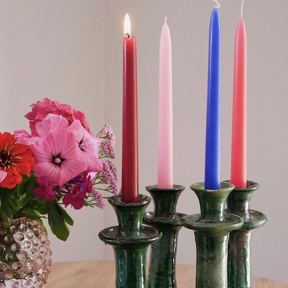 Medium glazed tamegroute candle holder set context 4