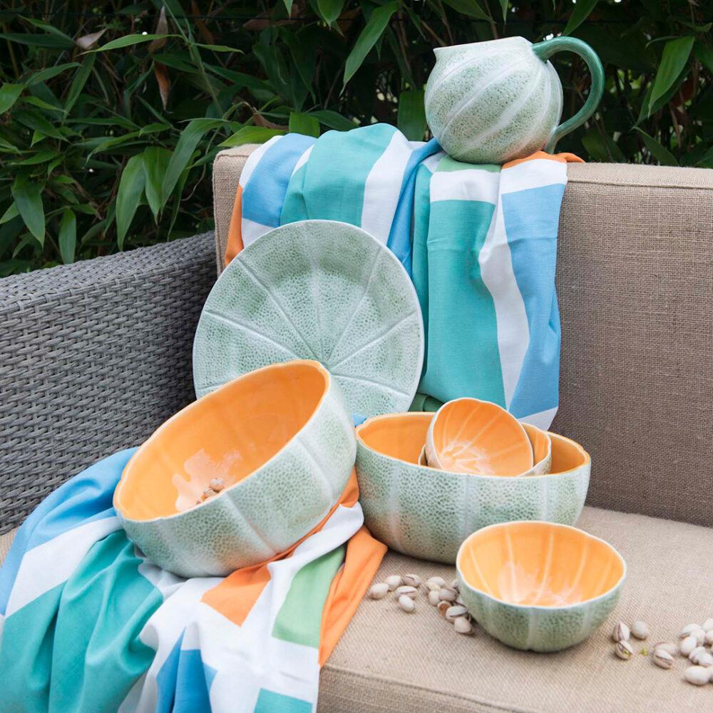 Melon fruit bowls