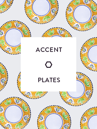 Handmade accent plates selection.