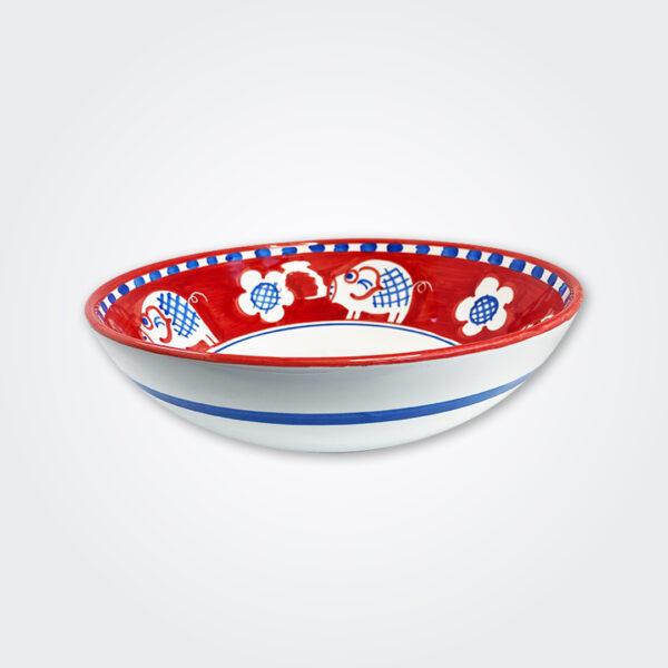 Pig ceramic bowl product picture.