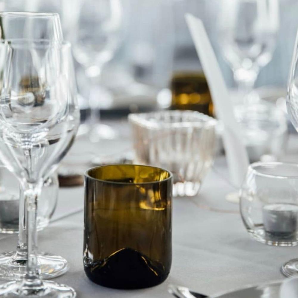 Wine bottle tumbler glass set context 3