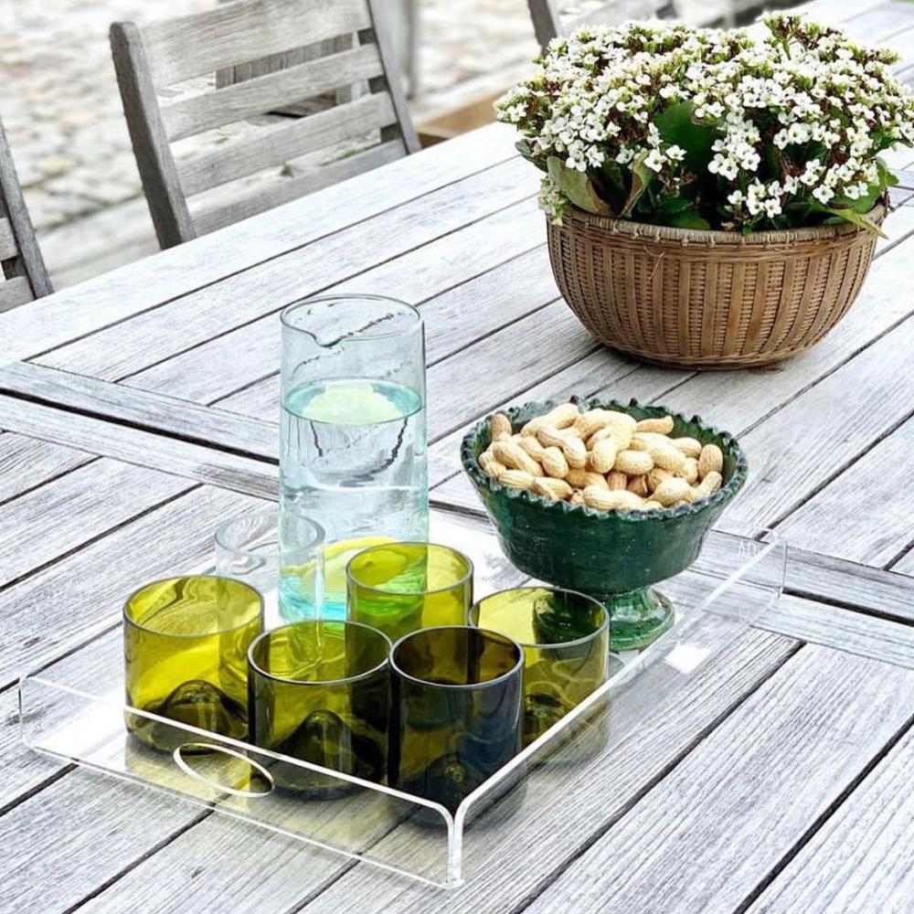 Wine bottle tumbler glass set context 6