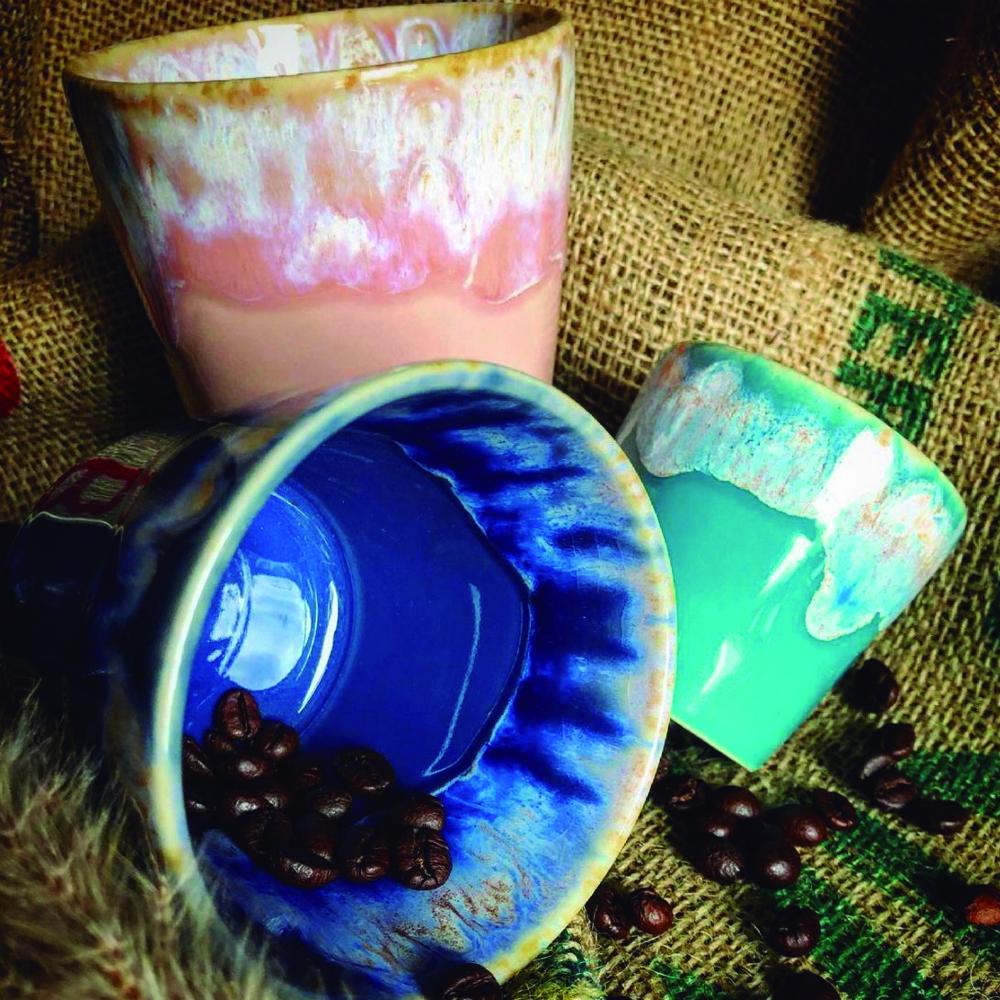 turquoise espresso container set