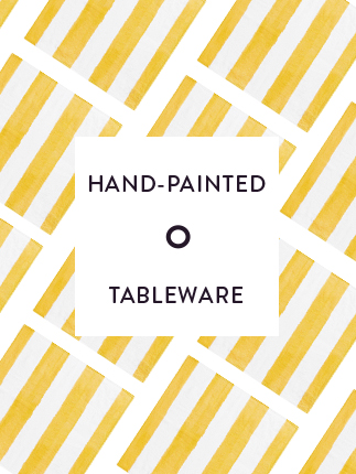Hand-painted tableware selection from around the world.